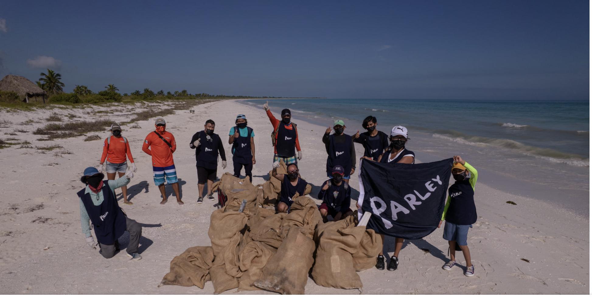 Limpieza de playas, Isla Grande en Holbox